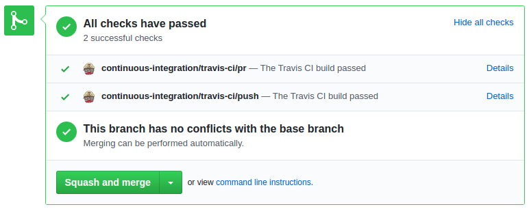 Travis Integration Comment